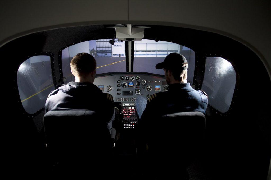 Vår simulator brukes til undervisning.