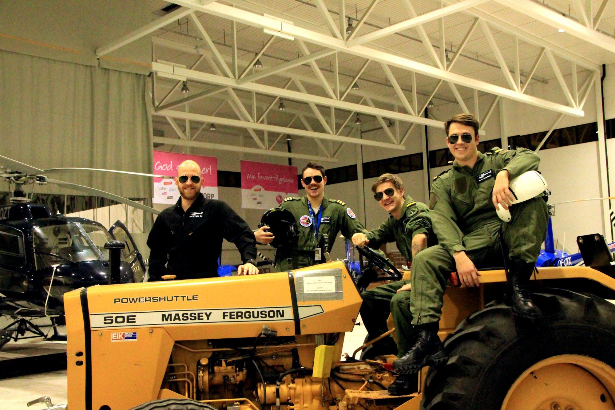 Hva gjør pilotstudentene når de ikke flyr?